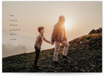 This is a black photo christmas card by Sandra Picco Design called Every Heart with standard printing on recycled smooth signature in standard.