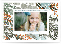 This is a orange photo christmas card by Angel Walker called Vintage Winterberry with standard printing on signature in standard.