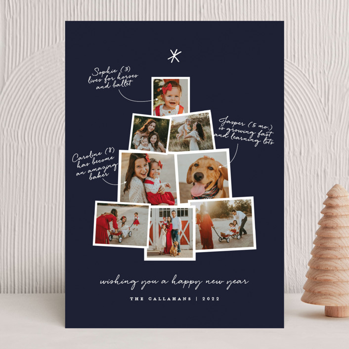 """""""Photo Tree"""" - Christmas Photo Cards in Cranberry by Shari Margolin."""