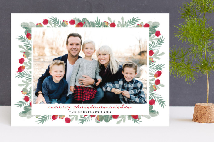 """merry bricolage"" - Christmas Photo Cards in Holly by pandercraft."
