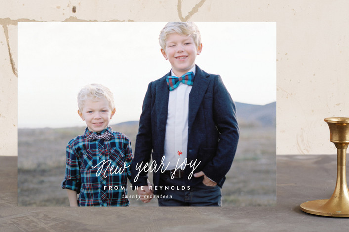 """So. Much. Joy."" - Christmas Photo Cards in Snow by Carolyn MacLaren."