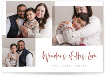 This is a red photo christmas card by Pixel and Hank called Wonder Collage with standard printing on smooth signature in standard.