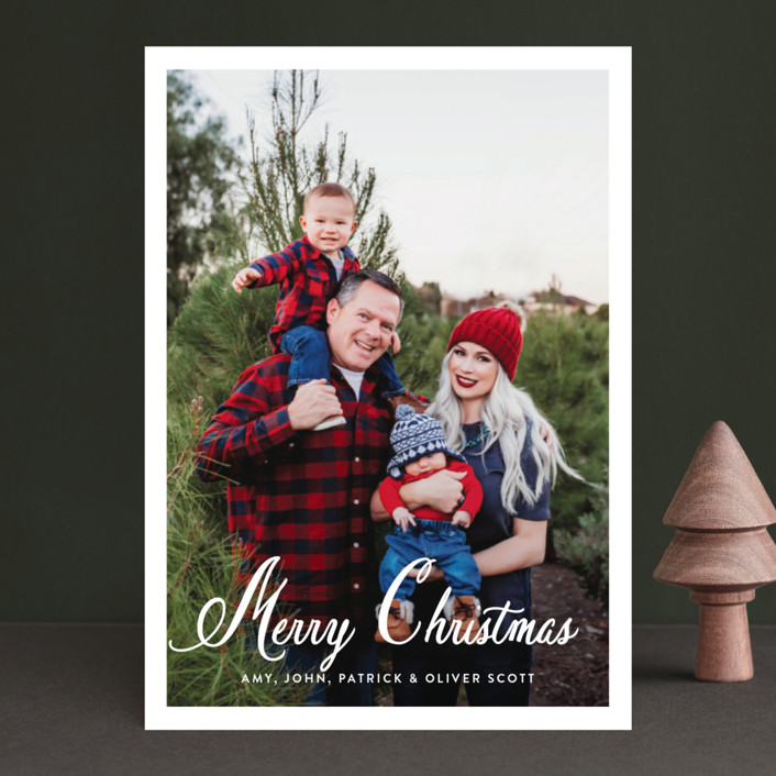 """Poste"" - Christmas Photo Cards in Snow by Toast & Laurel."