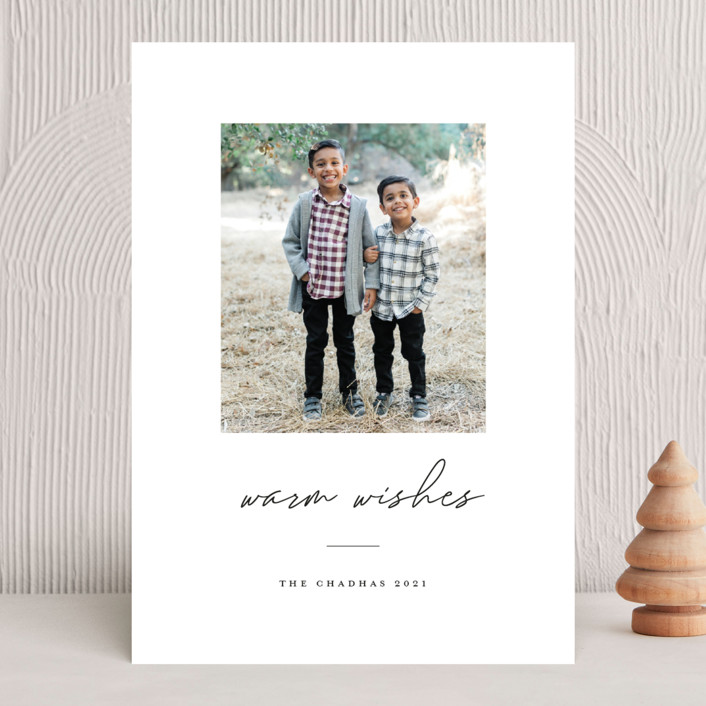 """""""warmwishes"""" - Christmas Photo Cards in Stocking by Bethany McDonald."""