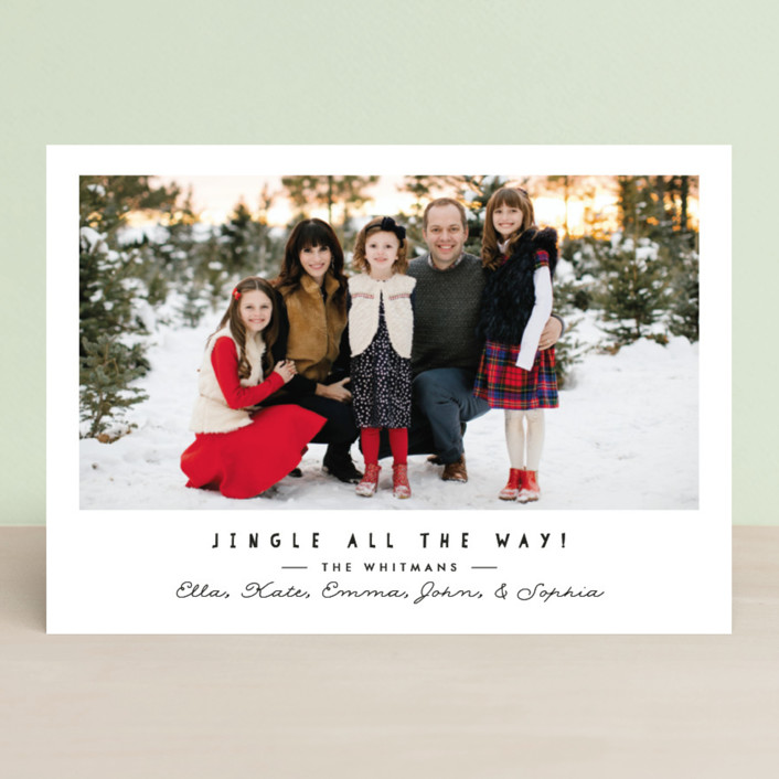 """""""simple jingle"""" - Christmas Photo Cards in Graphite by Karidy Walker."""