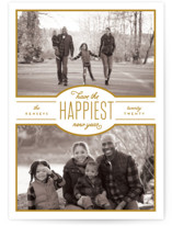 This is a white photo christmas card by Leah Bisch called Blessed Season with standard printing on smooth signature in standard.
