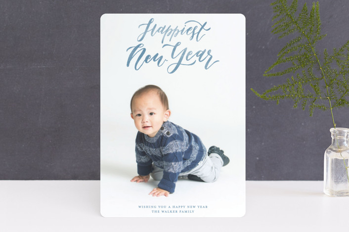 """""""Silent and Holy Night Overlay"""" - Christmas Photo Cards in Frost by Grace Kreinbrink."""