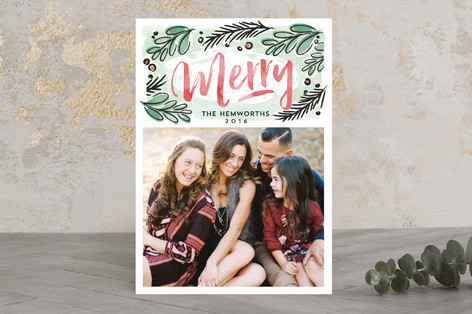 markered merry Christmas Photo Cards