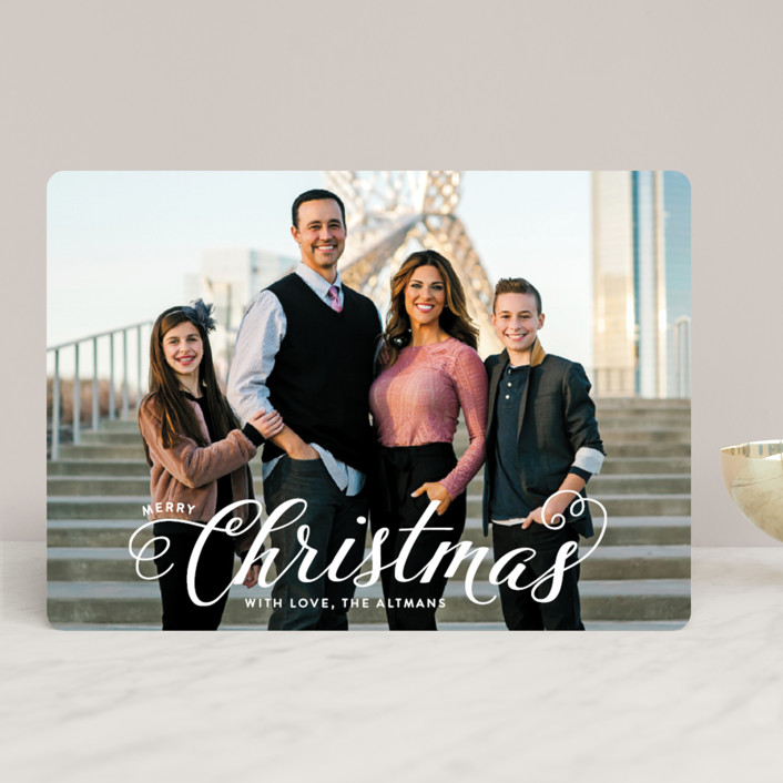 """Blessed Christmas"" - Christmas Photo Cards in Brass by Ellis."