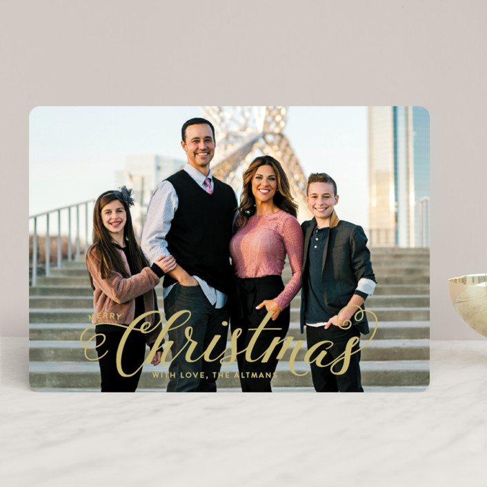 """Blessed Christmas"" - Christmas Photo Cards in North Star by Ellis."