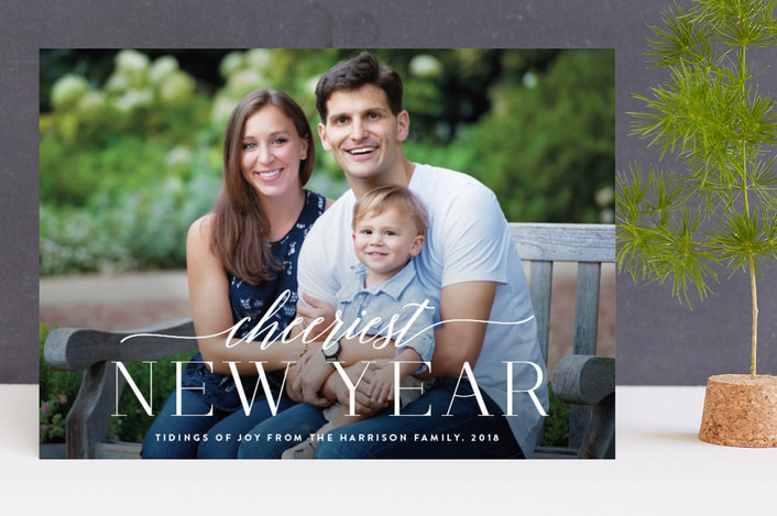 """""""Celebrate Christ"""" - Full-Bleed Photo, Modern Christmas Photo Cards in Snow by Design Lotus."""