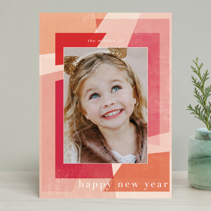 """Fractal"" - Christmas Photo Cards in Mixed Berry by Grace Kreinbrink."