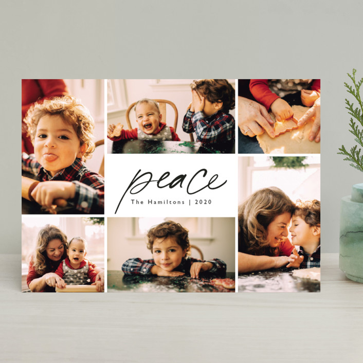 """Peace."" - Christmas Photo Cards in Ink by Hudson Meet Rose."