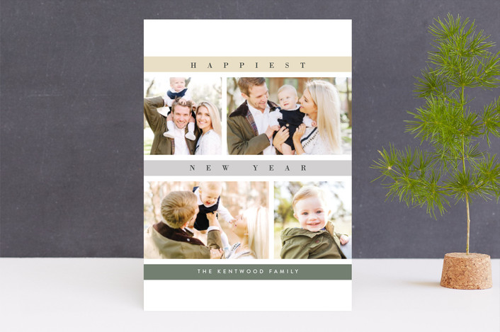 """Mosaic"" - Christmas Photo Cards in Spruce by chocomocacino."