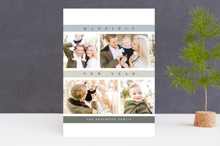 """""""Mosaic"""" - Christmas Photo Cards in Spruce by chocomocacino."""