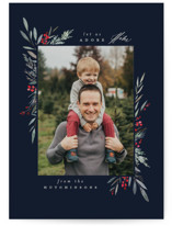 This is a black photo christmas card by Everett Paper Goods called Bountiful with standard printing on smooth signature in standard.