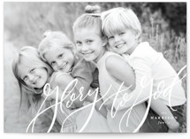 Lettered Glory Christmas Photo Cards By Lea Delaveris