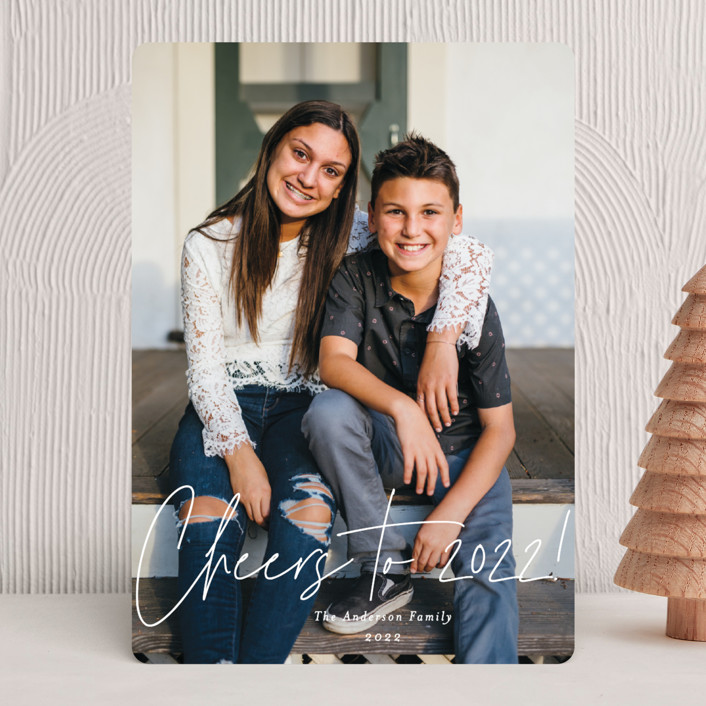 """Glorious Love"" - Modern Christmas Photo Cards in Snowflake by Ana Sharpe."