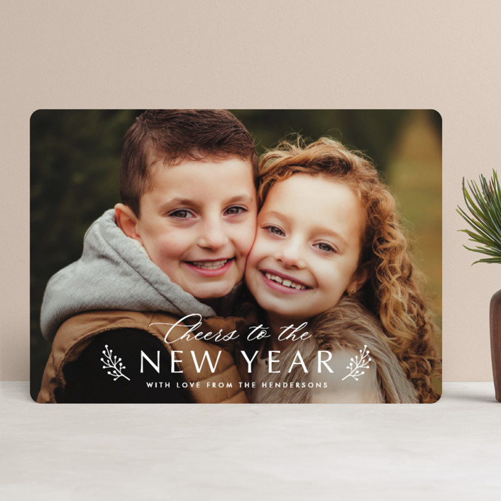 """""""Berry Sprig Blessings"""" - Christmas Photo Cards in Snow by Katherine Moynagh."""