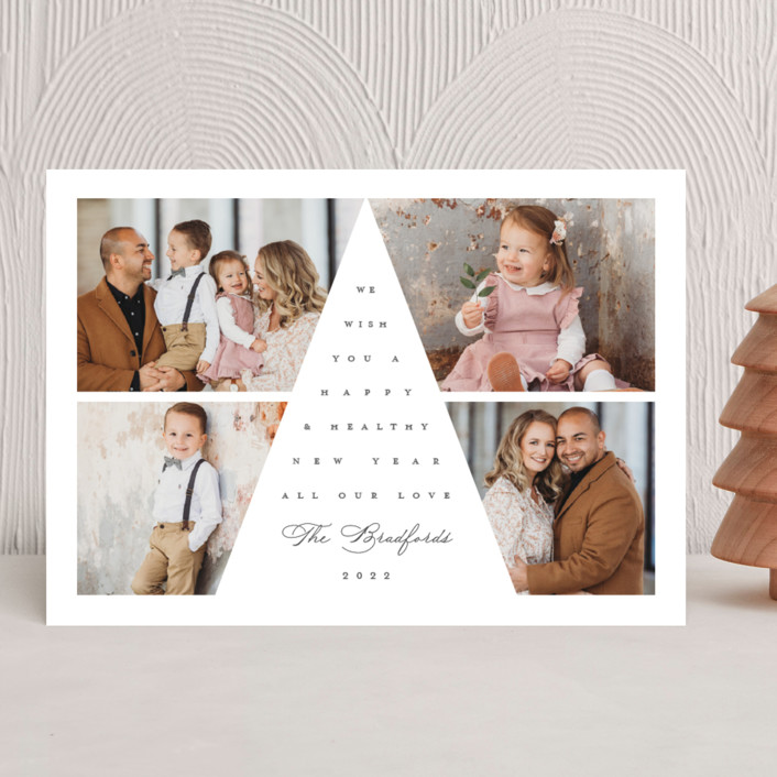 """""""Tree Top"""" - Christmas Photo Cards in Smoke by Lauren Chism."""