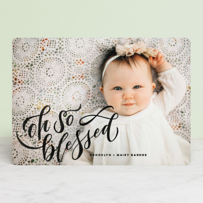 """""""Hand-Lettered Merry Christmas"""" - Christmas Photo Cards in Vanilla by Wildfield Paper Co.."""