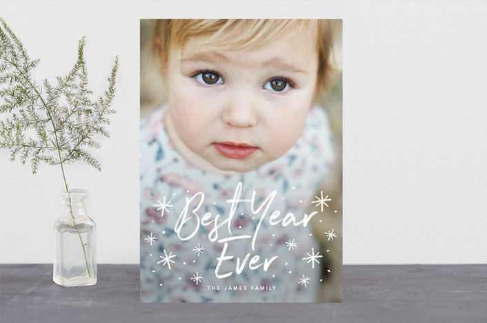 """Wonderful Love"" - Christmas Photo Cards in Snow by Guess What Design Studio."
