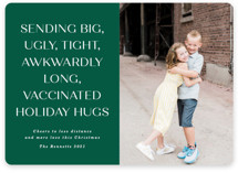 This is a green photo christmas card by Erica Krystek called Way Over Here with standard printing on smooth signature in standard.