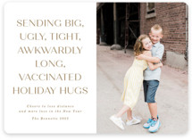 This is a beige photo christmas card by Erica Krystek called Way Over Here with standard printing on smooth signature in standard.