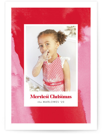 Peppermint Abstract Christmas Photo Cards