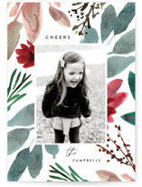 This is a white photo christmas card by Amy Kross called Wintertide with standard printing on smooth signature in standard.