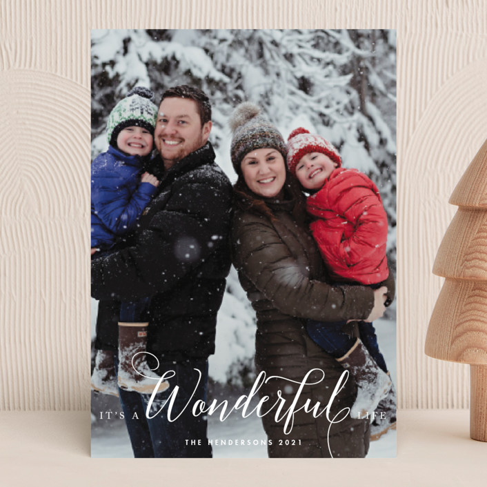 """A Wonderful Life"" - Christmas Photo Cards in Snow by Qing Ji."