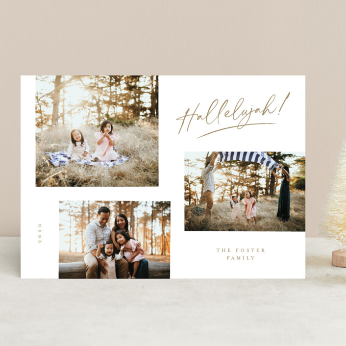 """""""All the Hallelujah"""" - Christmas Photo Cards in Honey by Pixel and Hank."""