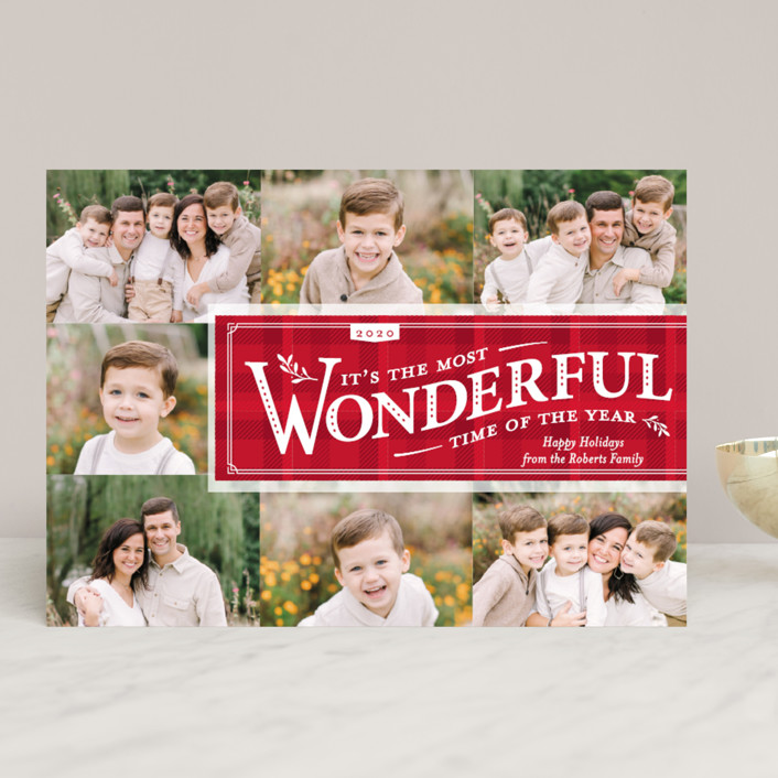 """Time-Honored"" - Vintage Christmas Photo Cards in Holly by cadence paige design."