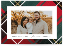 This is a red photo christmas card by Rebecca Durflinger called Classic Christmas Plaid with standard printing on triplethick in standard.