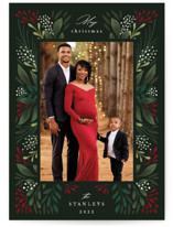 This is a green photo christmas card by Mansi Verma called Fleur with standard printing on recycled smooth signature in standard.