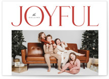 This is a red photo christmas card by Yuliya Evseeva called More happy with standard printing on signature in standard.
