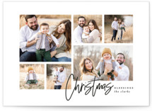 This is a black and white photo christmas card by Kelly Schmidt called Playful Script with standard printing on smooth signature in standard.