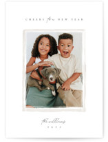 This is a white photo christmas card by Robert and Stella called Heirloom with standard printing on smooth signature in standard.