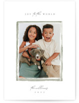 This is a green photo christmas card by Robert and Stella called Heirloom with standard printing on smooth signature in standard.