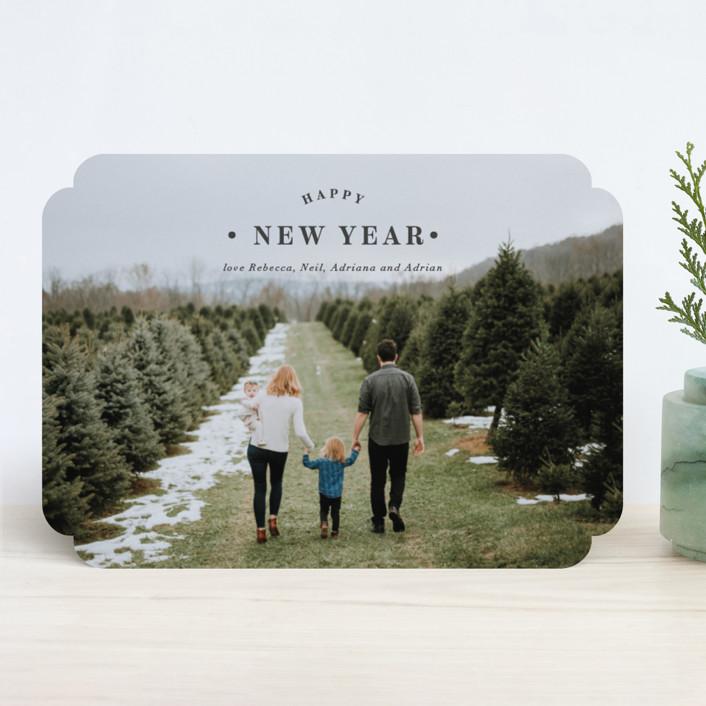 """Merrily Framed"" - Christmas Photo Cards in Slate by Kasia Labocki."