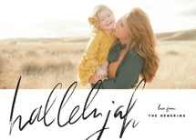 script hallelujah Christmas Photo Cards By Rebecca Durflinger