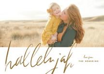 script hallelujah Christmas Photo Cards By Rebecca Durflinger