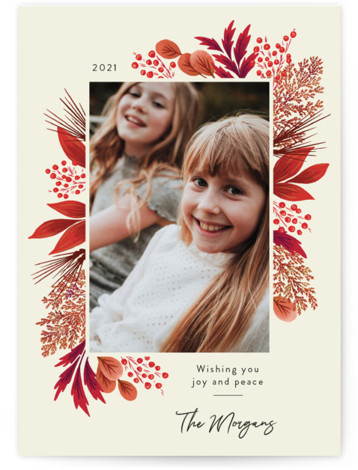 Crimson Holiday Christmas Photo Cards