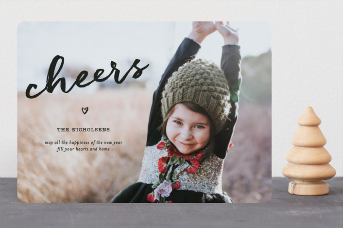 """Joy In Your Heart"" - Modern Christmas Photo Cards in Ebony by fatfatin."