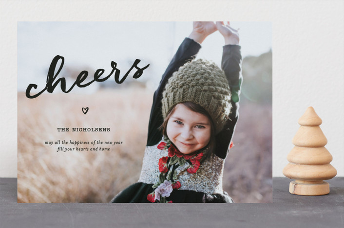 """Joy In Your Heart"" - Full-Bleed Photo, Modern Christmas Photo Cards in Ebony by fatfatin."