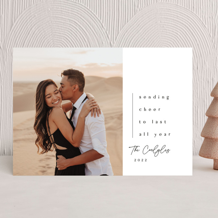 """""""The World Rejoices"""" - Christmas Photo Cards in Coal by Lea Delaveris."""