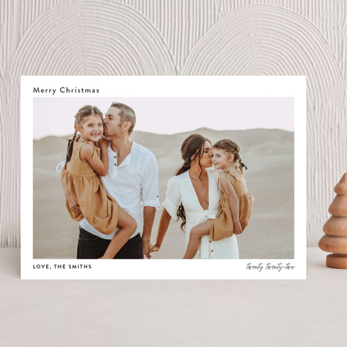 """""""front cover"""" - Christmas Photo Cards in Coal by Robin Ott."""