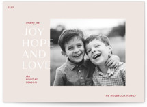 This is a beige photo christmas card by Mere Paper called Season for Love with standard printing on smooth signature in standard.
