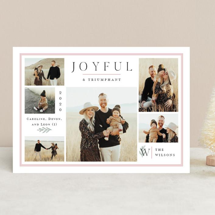 """Cedar Gallery"" - Christmas Photo Cards in Snow by Amy Kross."
