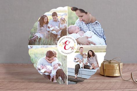 Monogram Wreath Christmas Photo Cards